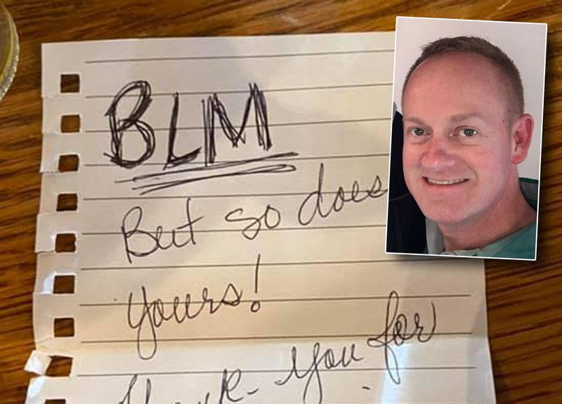 'Thank you for your service. Breakfast paid:' Note bridges civilian-cop divide in touching gesture