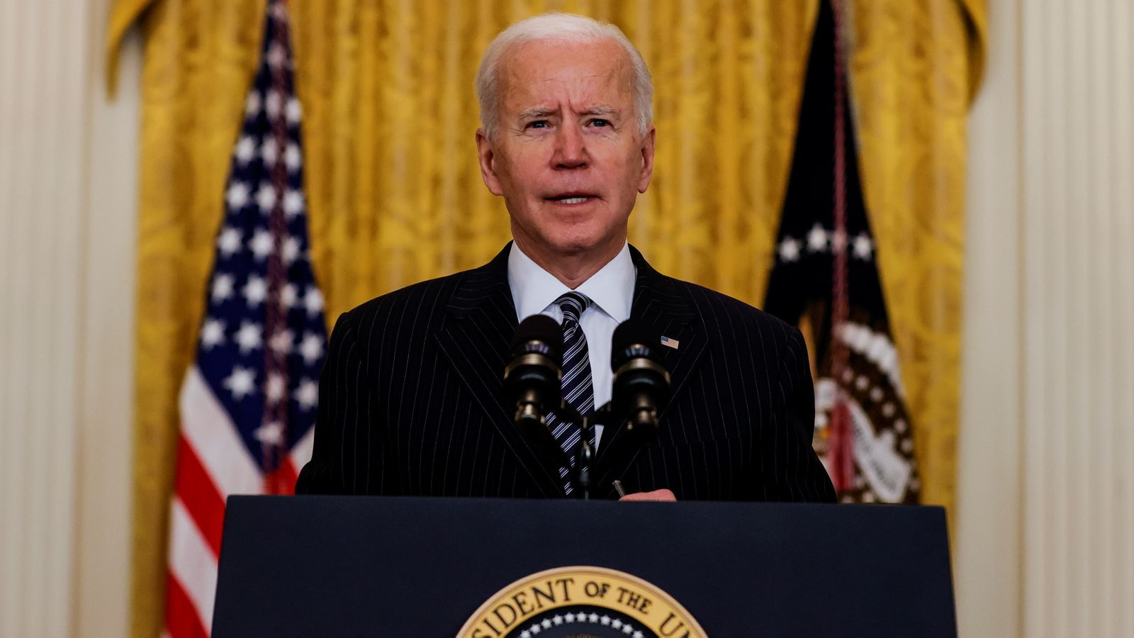 Biden says U.S. will meet goal of 100 million COVID shots Friday — 'weeks ahead of schedule'