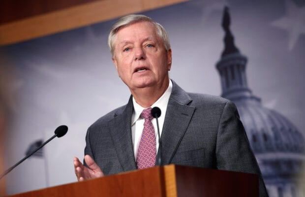 Sen. Graham tests positive for COVID, says he's glad he was vaccinated