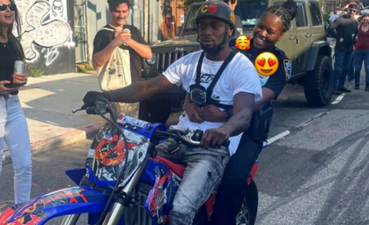 Uniformed NYPD cop caught on video riding back of illegal dirt bike amidst citywide crackdown